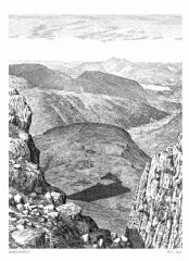 Unframed Wainwright Print - Borrowdale